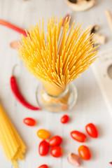 Bunch of spaghetti.