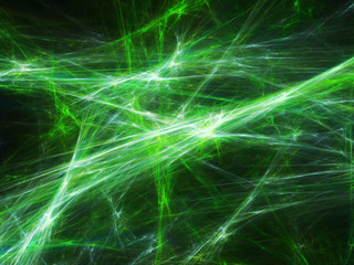 Green plasma explosion in space