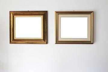 beautiful mockup white old stylish frame in house designed