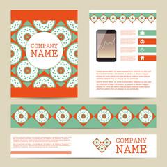 Set of Flyer design,  business templates.