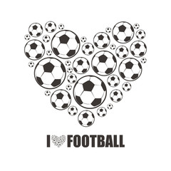 Heart from the footballs. I love Football.