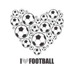 Heart from the footballs. I love Football.