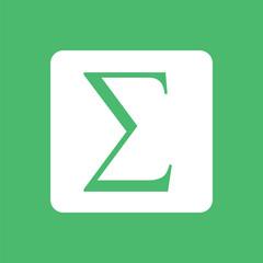 Sigma symbol icon. Summation icon.