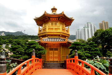 Golden Pavilion of Absolute Perfection in Nan Lian Garden