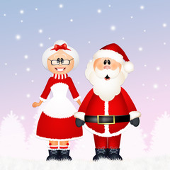 Santa Claus with his wife