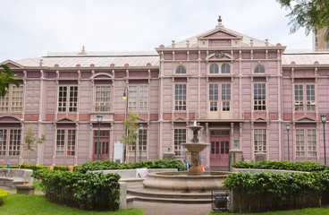 The historic building of graduate school in downtown of San Jose, Costa Rica