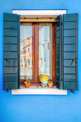 Burano colorful window