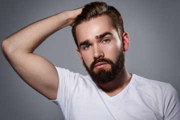 Handsome man with a beard