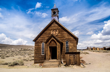 Frontier Church in Bodie California Ghost Town Wall mural