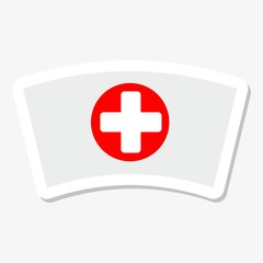 Nurse cap icon sticker