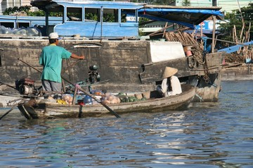 Floating Market in Can Tho City