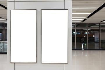 Empty White Billboard