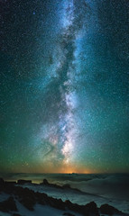 Milky way as a background. Beautiful natural star composition