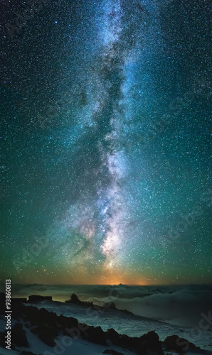Wall mural Milky way as a background. Beautiful natural star composition