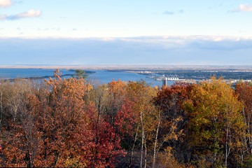 Duluth Hillside and Park Point in Fall