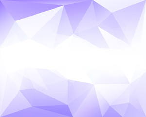 Blue polygonal vector background with white horizontal gradient