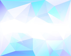 Triangle polygonal background with low poly texture, in vector
