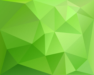 Abstract polygonal geometric background, green colored, vector