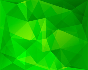 Abstract polygonal geometric background, green and yellowish col