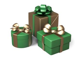 Gift Box Set. 3d rendering