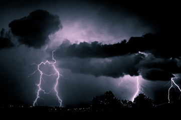 Storming during the night