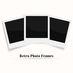 Blank photo frame. vector