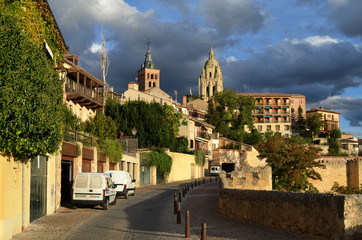 Old town of Segovia.