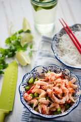 clean eating salad with crayfish