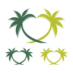 Palm Tree in Love Form