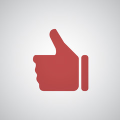 Flat red Thumb Up icon