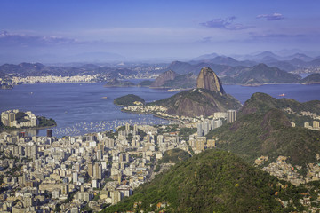 Beautiful skyline view of Rio de Janeiro, Brazil