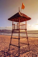 lifeguard tower beach empty beach