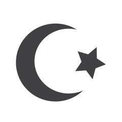 Symbol of Islam Star crescent icon