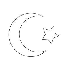 Symbol of Islam Star crescent icon