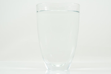 Glass of drink water isolated white