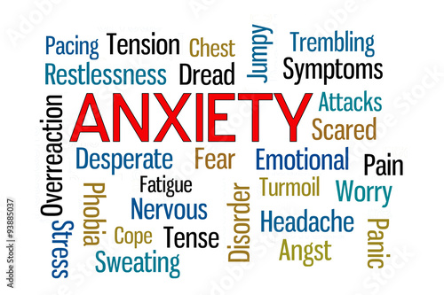 """Anxiety Word Cloud"" Stock photo and royalty-free images ..."