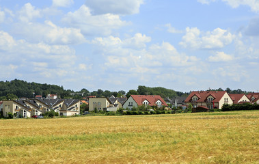 Beautiful summer landscape of suburb Prague.