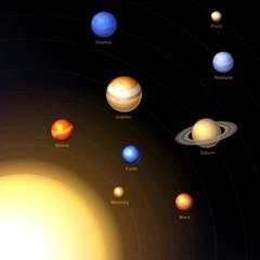 Solar System. Vector