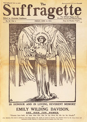 Front cover of the suffragette magazine dedicated to Emily Davison. Only in 1928 suffrage was extended to all women over the age of 21