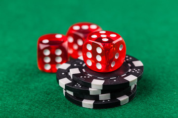 Red dice and chips