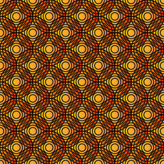 Overlap Circle Pattern Orange