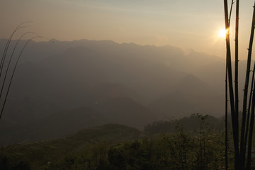 Sunset in Sapa, Vietnam