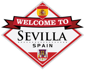 seville spain sticker