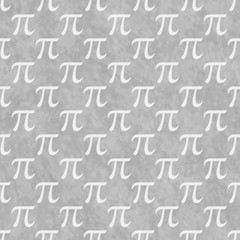 Gray and White Pi Symbol Design Tile Pattern Repeat Background