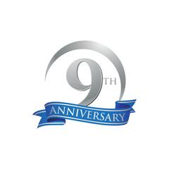 9th anniversary ring logo blue ribbon