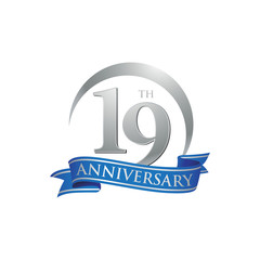 19th anniversary ring logo blue ribbon