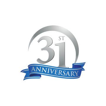 31st anniversary ring logo blue ribbon