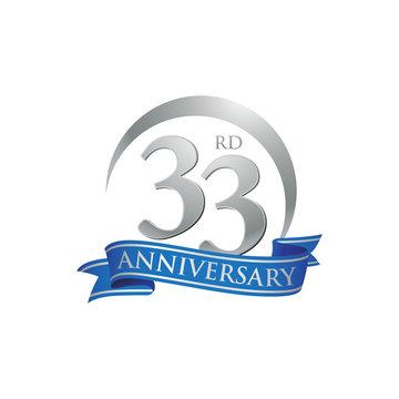 33rd anniversary ring logo blue ribbon