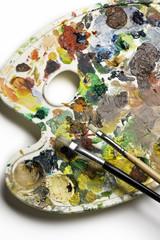 brush on the palette