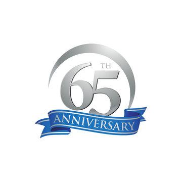65th anniversary ring logo blue ribbon